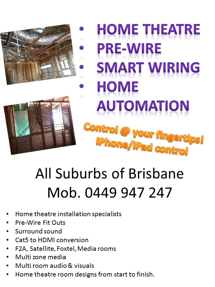 pre wire brisbane smart wiring home theatre home automation rh tvmagic com au Home Electrical Wiring Diagrams Show Wiring Diagrams