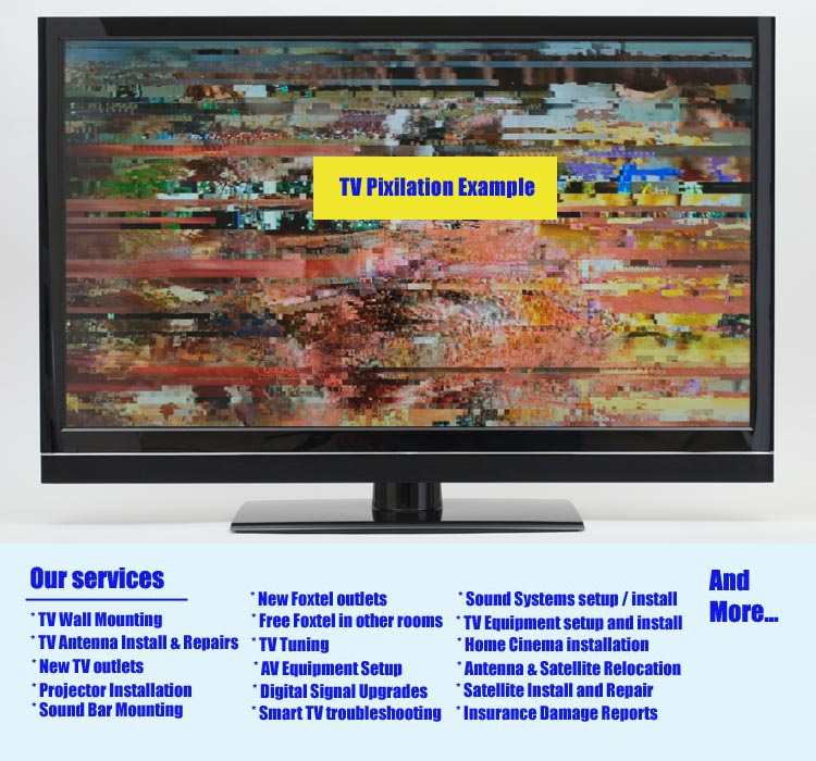 Carrara TV Signal booster, Pixilating TV Channel Reception Repair