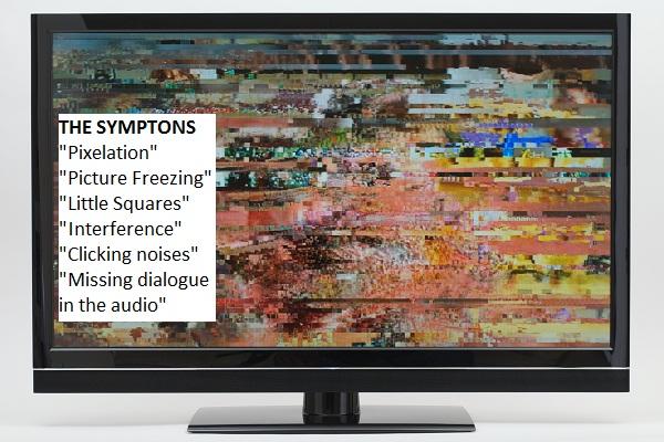 Good tv reception vs  bad tv reception