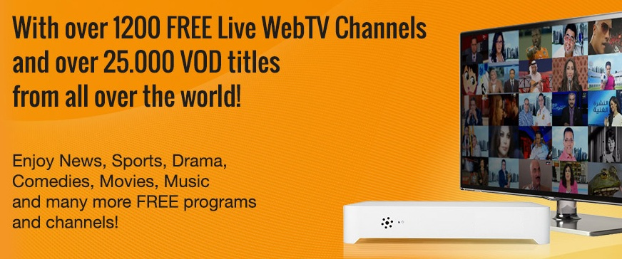 ZaapTV - 1200 live TV channels